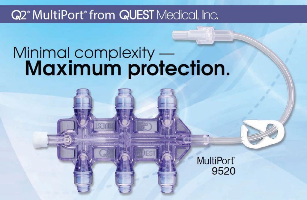 QUEST SPLIT SEPTUM Q2 NEEDLELESS CONNECTORS